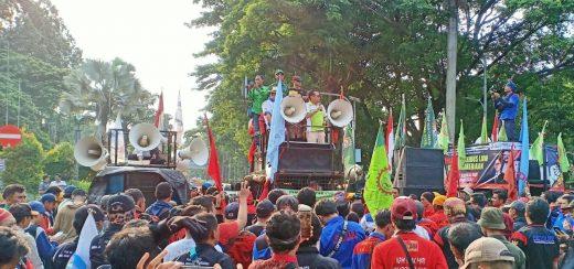 Aliansi Buruh Banten Bersatu Tolak RUU Omnibus Law