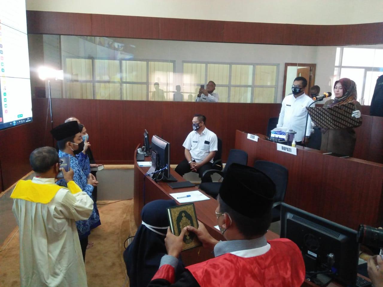 Perdana Di Pandeglang, Sebanyak 303 CPNS Dilantik Melalui Video Conference