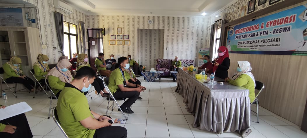 Tekan PTM, Kadinkes Paparkan Strategi Saat Monev di Puskesmas Pulosari